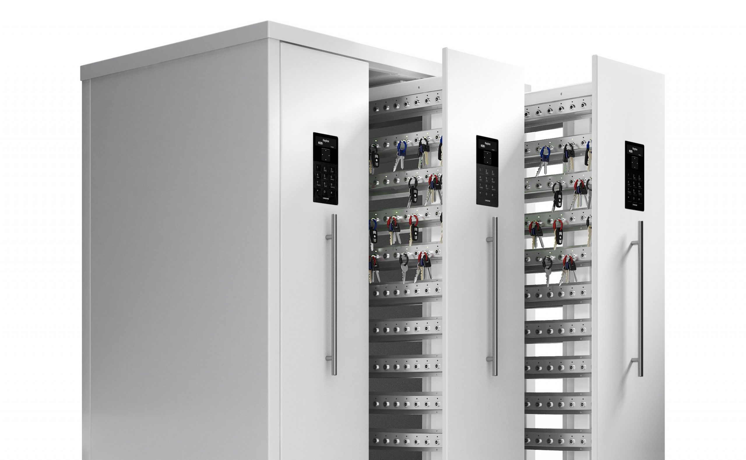 KeyBox smart key cabinet 9600 SC with open doors, used for key management
