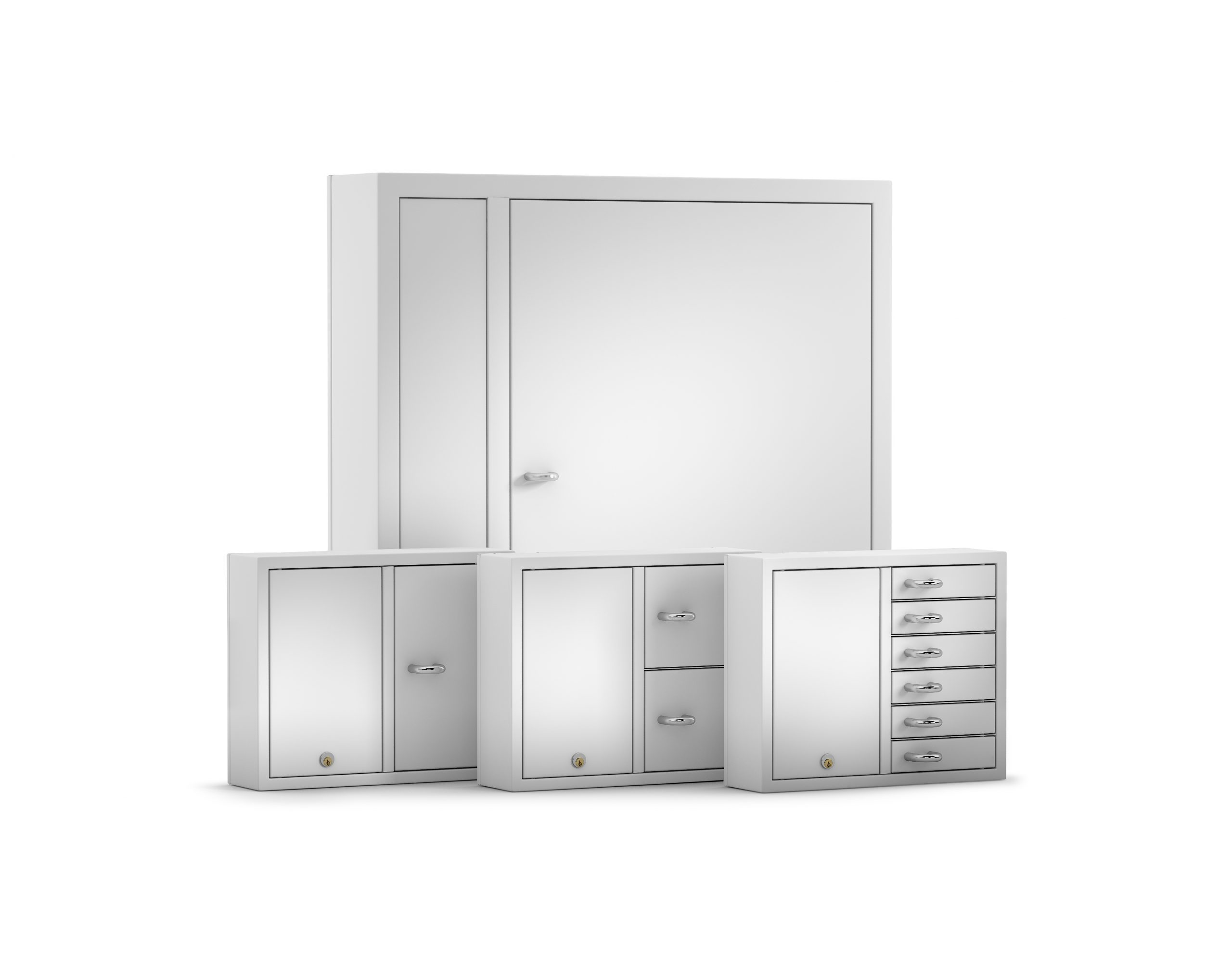 All the Expansion series distribution cabinets are designed for key management