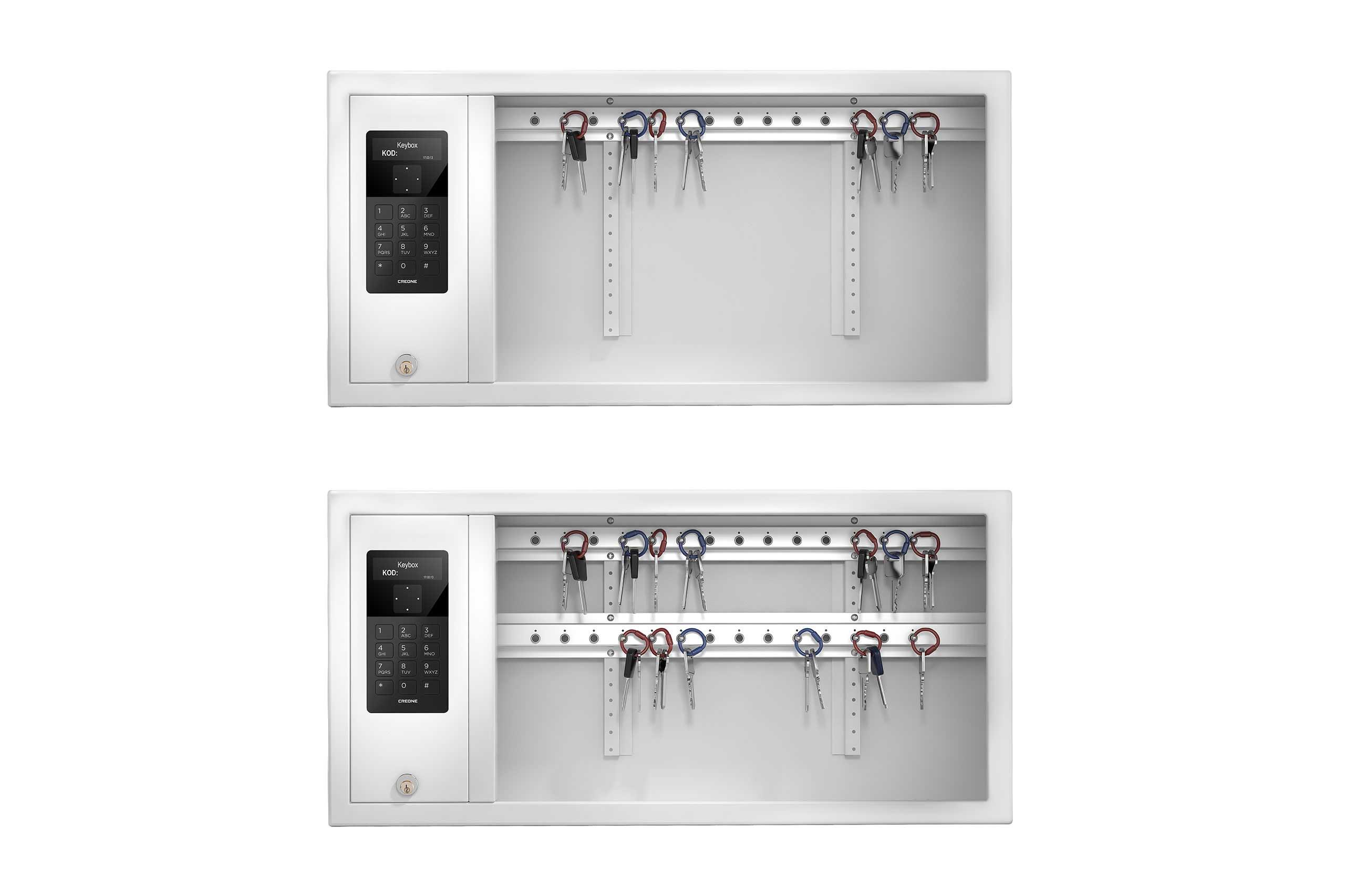 Deux armoires à clés KeyBox en version 9400 SC avec deux racks pour répondre á des besoins différents en matière de stockage de clés