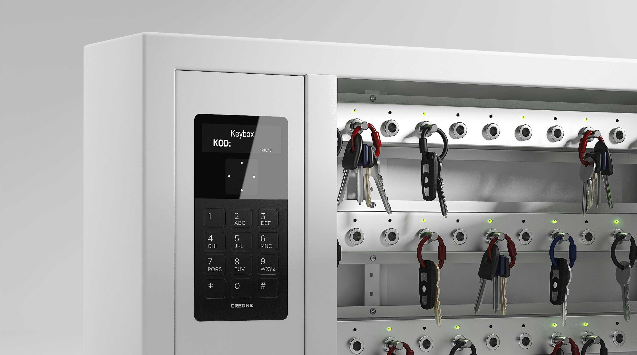 Gros plan sur l'écran d'une armoire 9400 SC avec un menu facile d'utilisation