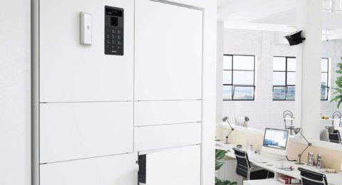 Gabinete para objetos de valor ValueBox de la serie Control en un entorno de oficina