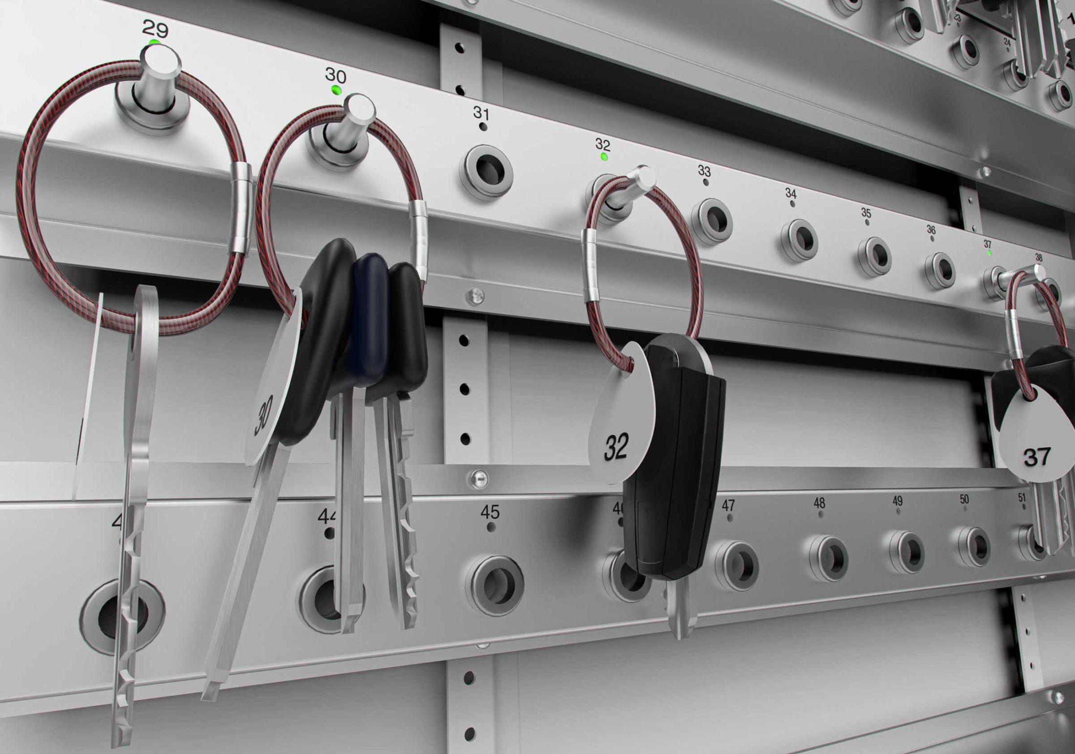 Racks intelligents pour une gestion optimale des clés.