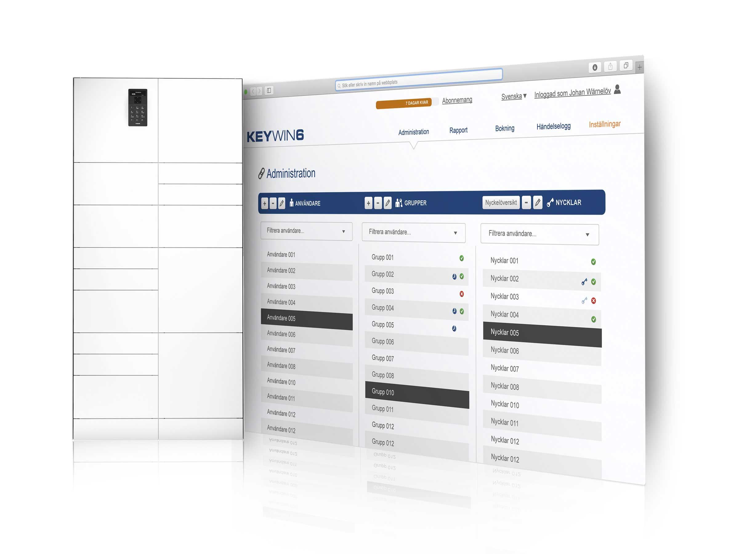 Gestion d'objets avec une armoire forte ValueBox dotée du logiciel KeyWin6 qui enregistre tout ce qui se passe